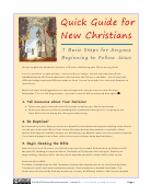 Quick Guide for New Christians